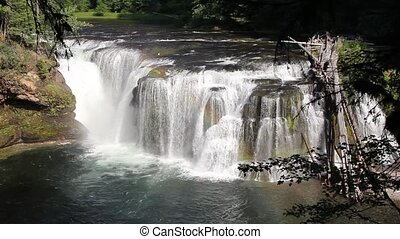 Lower Lewis River Falls in Skamania County Washington...