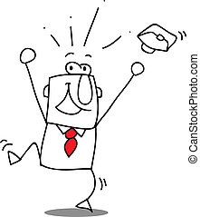 Yippee !  You are the best ! - Happy businessman who smile