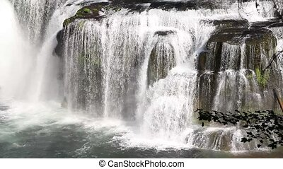 Lower Lewis River Falls Closeup - Lower Lewis River Falls in...