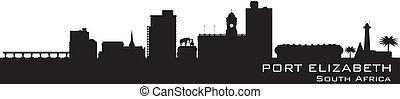 Port Elizabeth South Africa skyline Detailed vector...