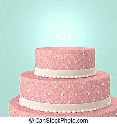 wedding cake - 3d image of classic  wedding cake