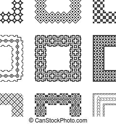 Universal different vector pattern brushes with corner