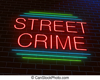 Street crime concept - Illustration depicting an illuminated...