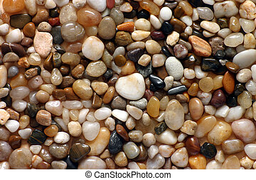 Polished pebbles - Polished beach pebbles close up