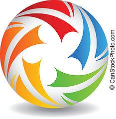 Logo Play ball vector design - Play ball vector design