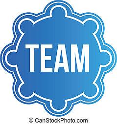 Logo Team Seal Vector Design