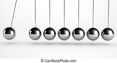newton pendulum isolated