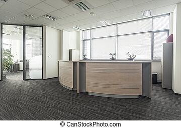 escritório, recepção