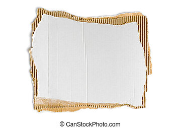 corrugated fiberboard - scrap of corrugated fiberboard with...