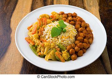Vegetarian biryani rice