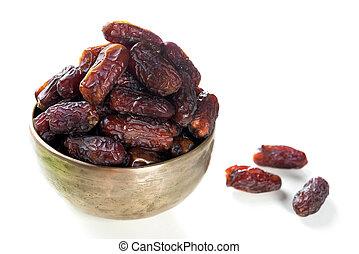 Ramadan, nourriture, date, fruits
