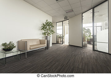 Office corridor - Corridor in a new modern office interior