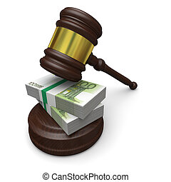 Justice and money - Money in justice, concept of high legal...
