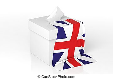 Ballot box with the flag of Great Kingdom