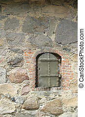 Antique Building - Old building in the old town Fredrikstad,...