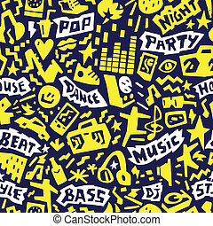 Music party - seamless background