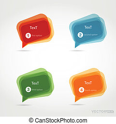 Four colorful chat bubbles - vector set