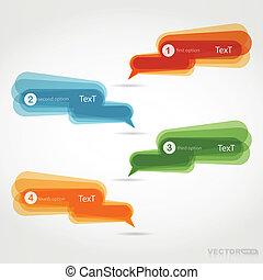 Four colorful chat bubbles - vector set