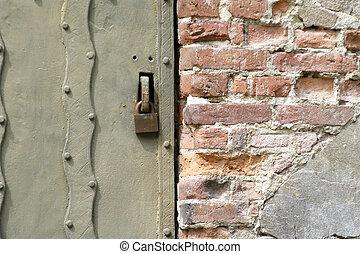 Steel Door Texture - Steel door texture with bruck surround.