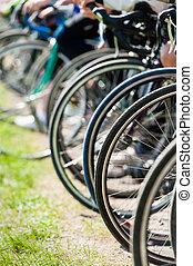 bicicleta, ruedas