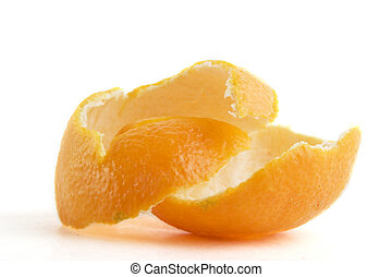 Orange Peel - Orange peel on a white background
