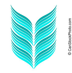Abstract shape - Abstract blue feather shape. Vector...