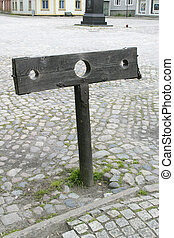 stocks - A set of stocks in the old town of Fredriktad