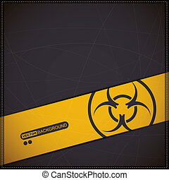 biohazard symbol - Background with biohazard symbol