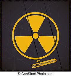 radiation symbol - Background with radiation symbol