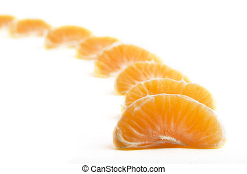 Orange Row - A row of christmas orange slices