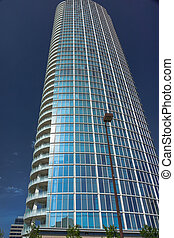 skyscrapper - modern day architecture in down town Dallas...