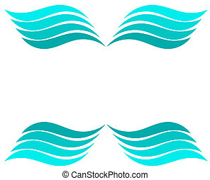 Waves background - Blue water waves - vector illustration...