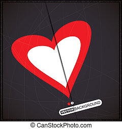 Valentine`s day card with heart