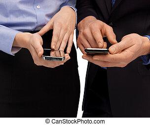 女,  smartphones, 人, 手