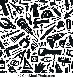 work tools - seamless background
