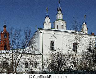REVERENTLY-Bogolyubskiy Aleksievskiy male priory in city...