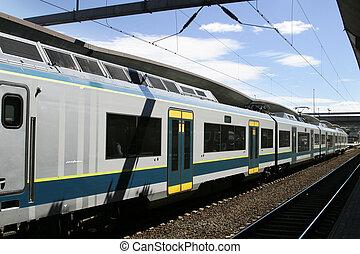 norvégien, passager, train