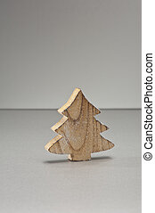Christmas tree ornament in shape of a Christmas tree