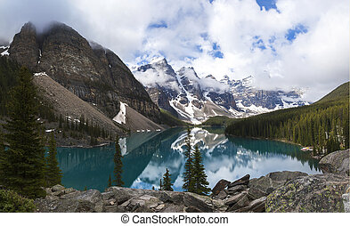 Moraine Lake, Banff National Park, Alberta, Canada - Moraine...