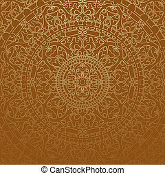 Vector brown oriental background