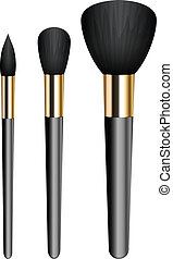 make-up brushes - Vector illustration of make-up brushes