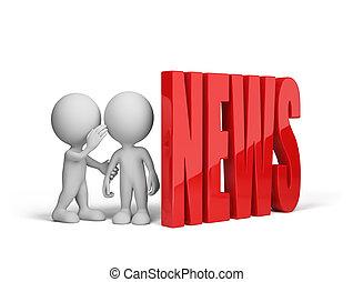 People exchange news