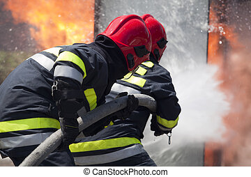 firefighters - Firefighters in action