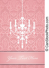 background with chandelier - Vector lace background with...