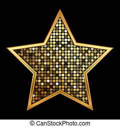 gold shiny star - Vector illustration of gold shiny star