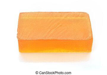 laranja, glicerina, feito à mão, branca, sabonetes