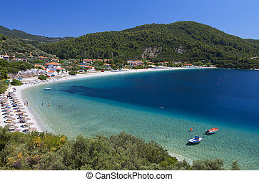 Skopelos island in Greece - Panormos beach at Skopelos...