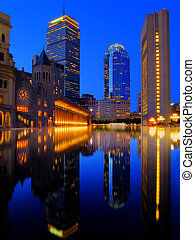 High Rise Tower and Reflection - High Rise Tower in Boston...