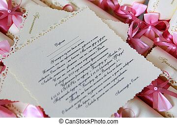 bröllop, inbjudan