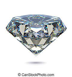Gem stone - Diamond stone - isolated on white background